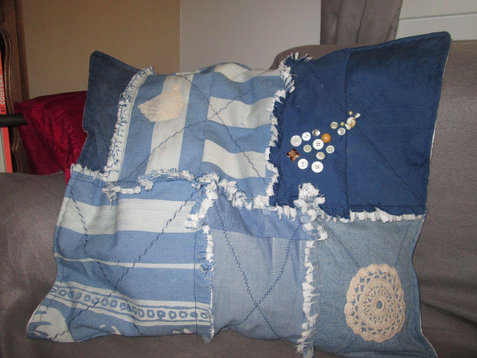 Mes dernières créations en rag quilt et crazy patch,
