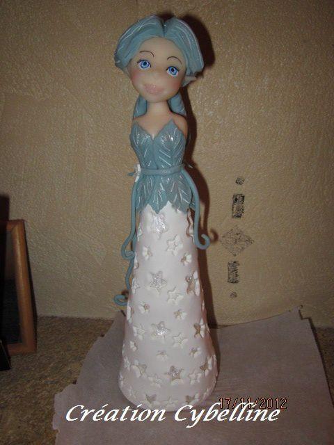 """Photophore """" Azur"""" en porcelaine froide"""