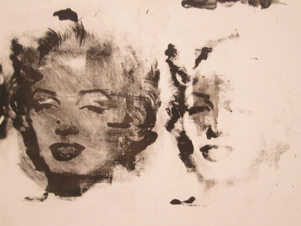 """Détail """"Diptyque Marylin"""", 1962, Andy WARHOL."""