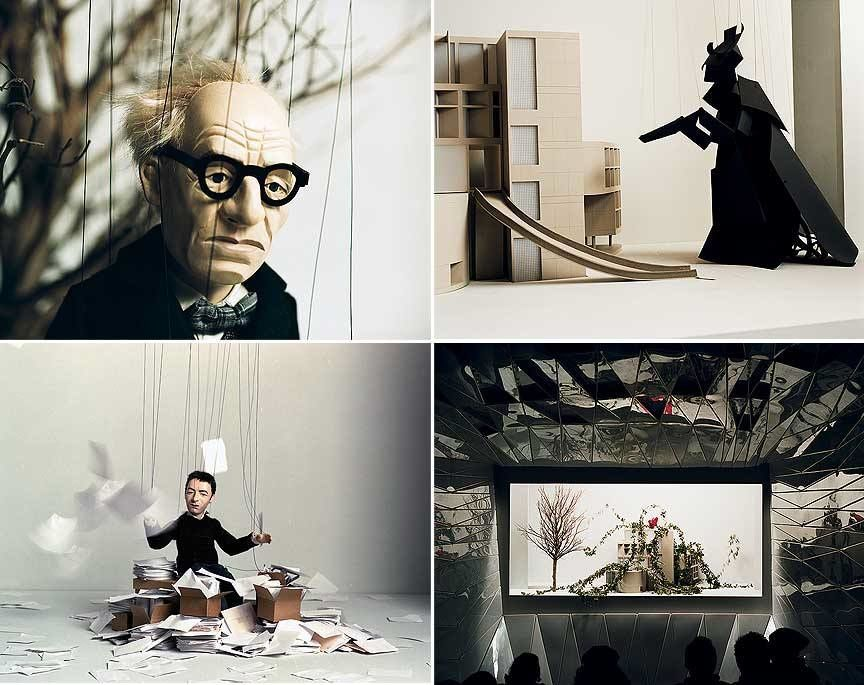 """""""This Is Not a Time for Dreaming"""", Pierre Hyugue, 2004. Installation vidéo Marionnettes et film 16mn, Durée 24mn."""