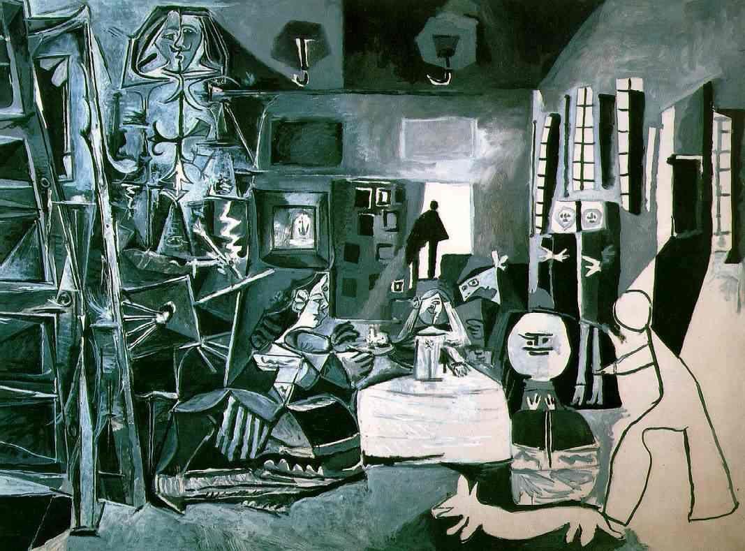 """Picasso """"Les Ménines d'après Vélasquez"""" (peinture, 1 toile parmi les 58 faites par Picasso)"""