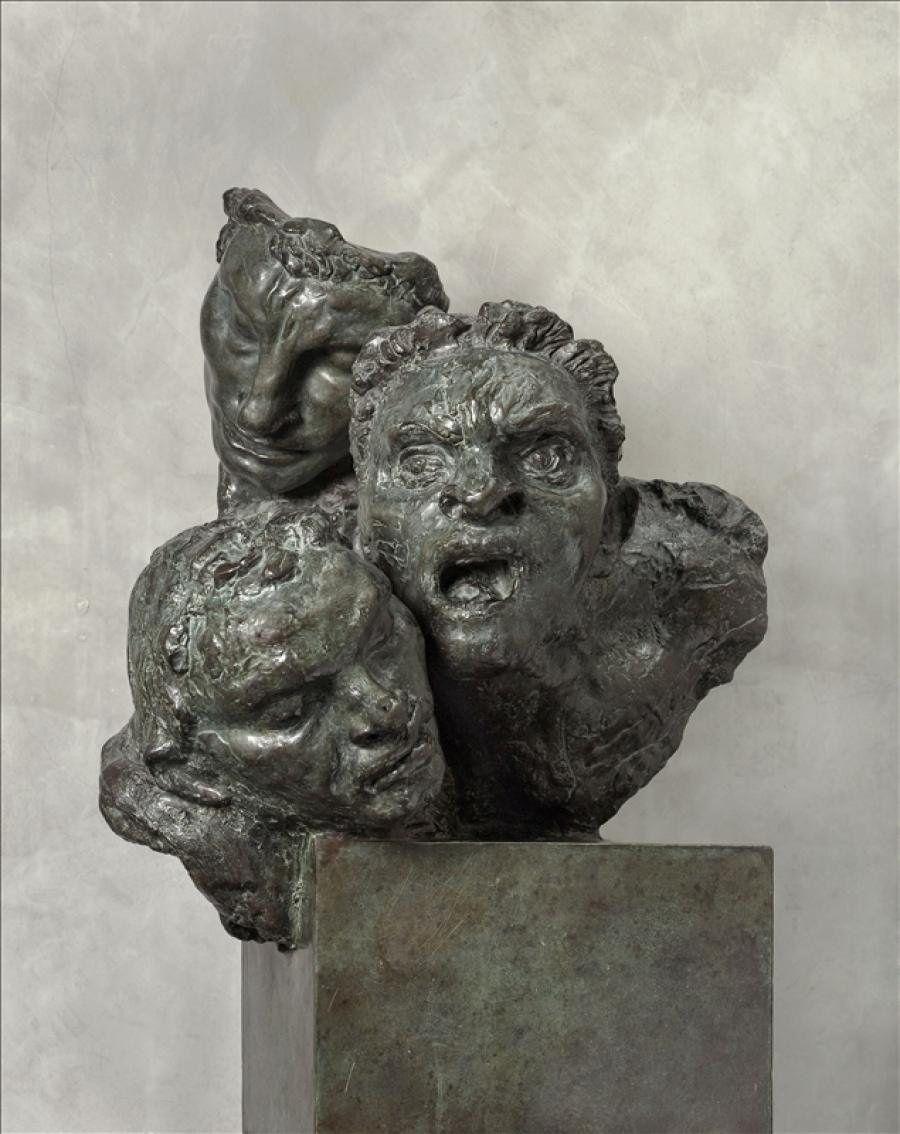 """Antoine BOURDELLE, """"Figures Hurlantes"""", 1899, Sculpture en bronze 93 x 45 x 65 cm, Paris Musée Bourdelle."""