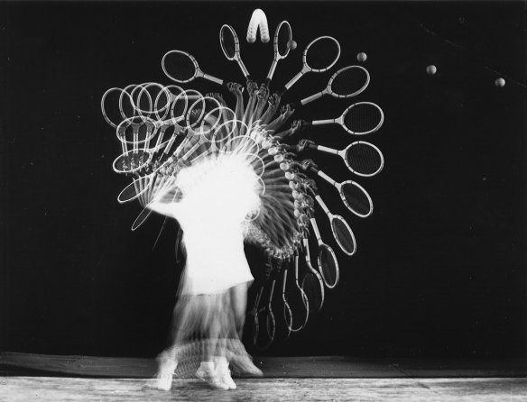 """Tennis player"" Harold Edgerton (chronophotographie) 1938"