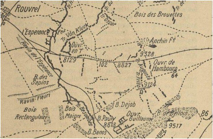 ZONE DU BOIS DE BELLOIS (près de MAILLY RAINEVAL) ou fut tué PIETTRE Achille