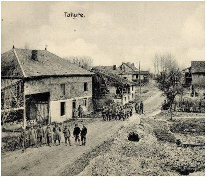 le monument des batailles de champagne et deux villages martyrs (détruits)