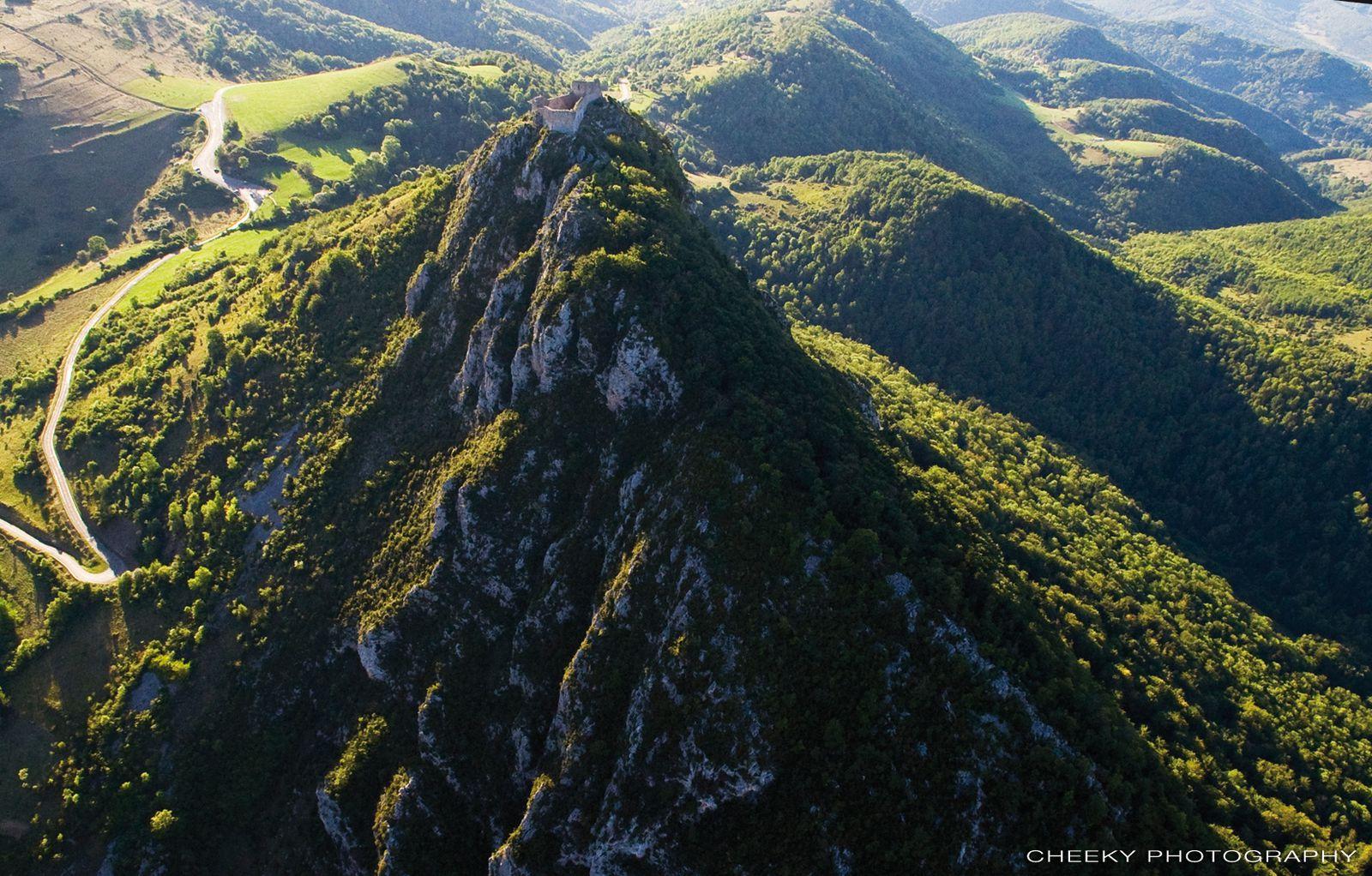 Vues aériennes de Montségur
