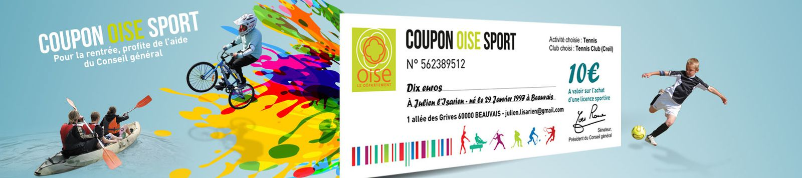 Coupon sport de l'oise