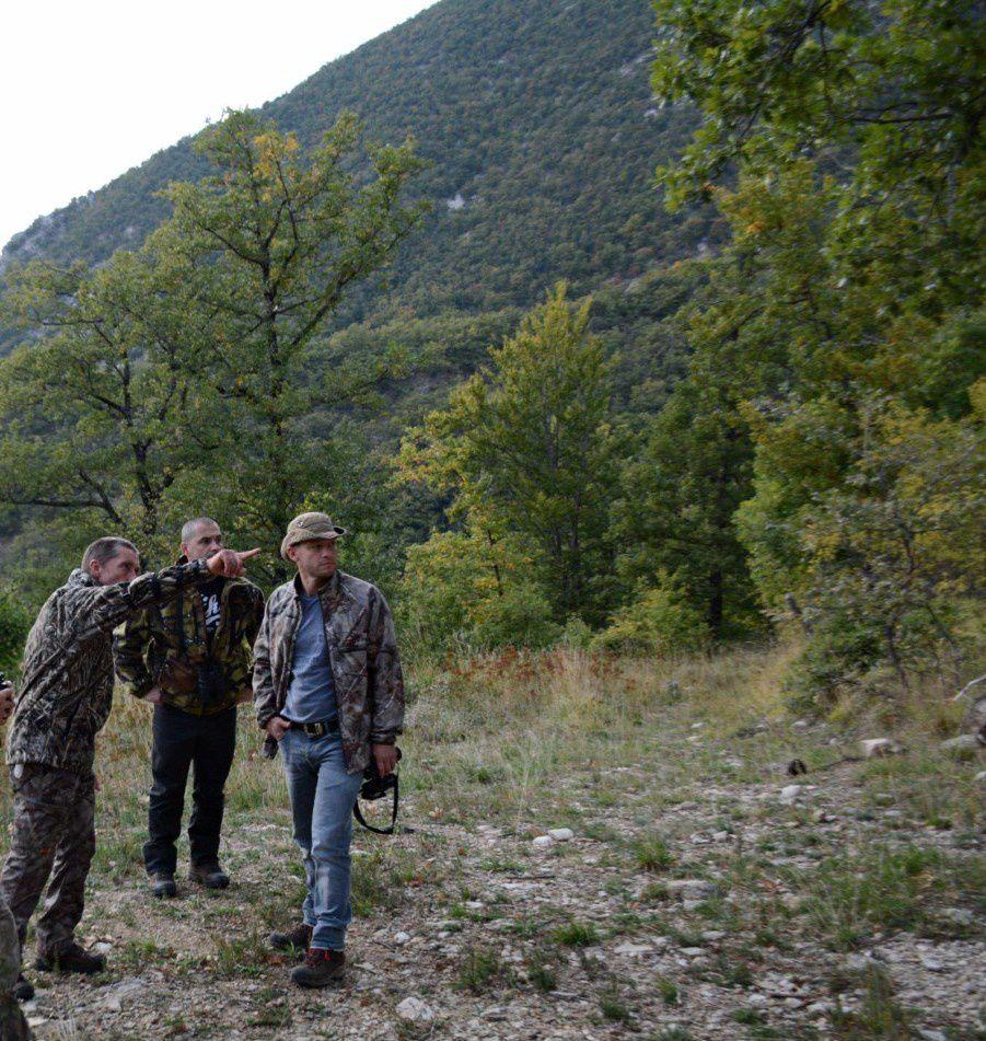 les chasseurs à l'arc à la montagne