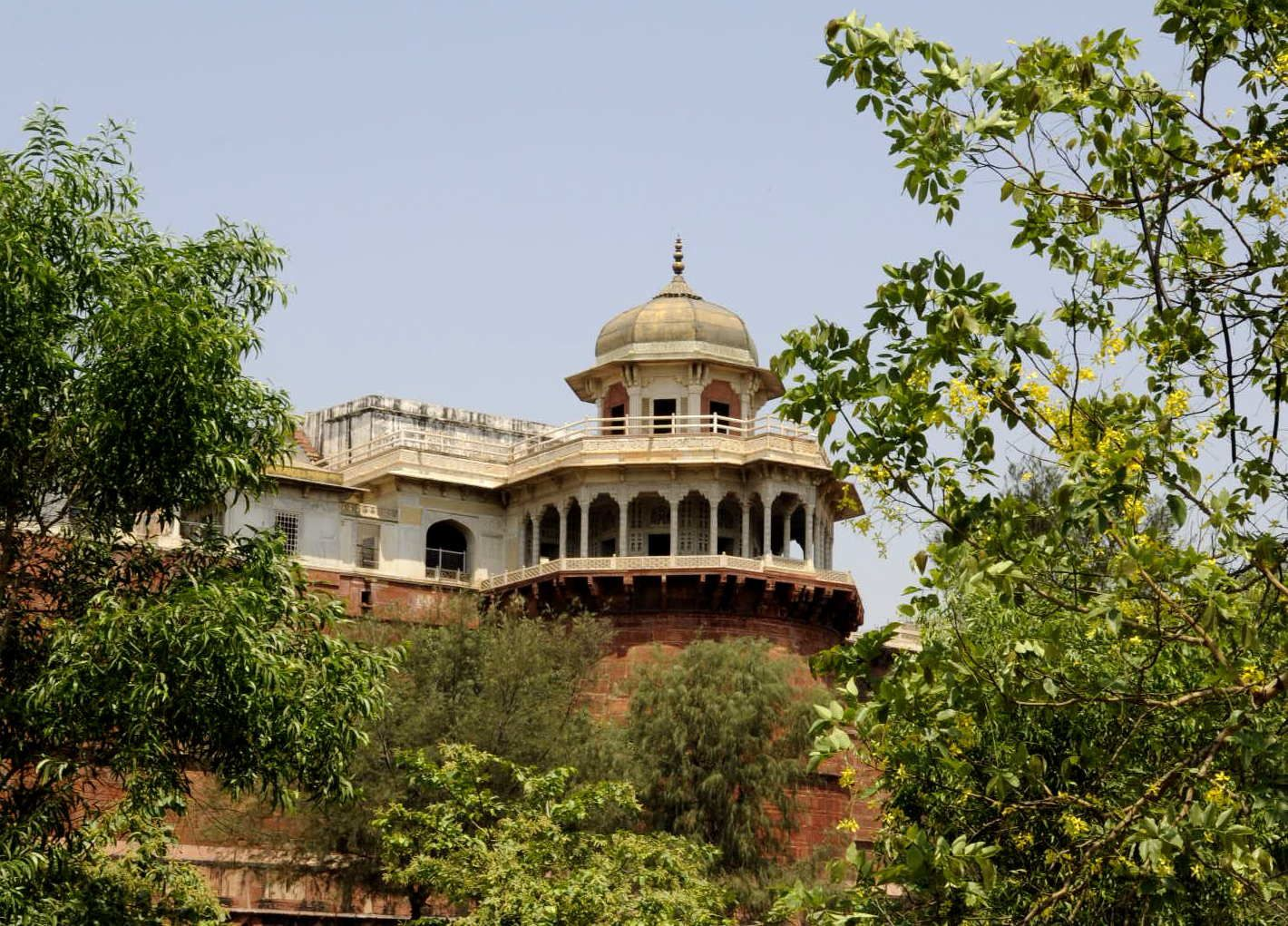 Voici le palais où le Maharajah a été reclus à la fin de sa vie...