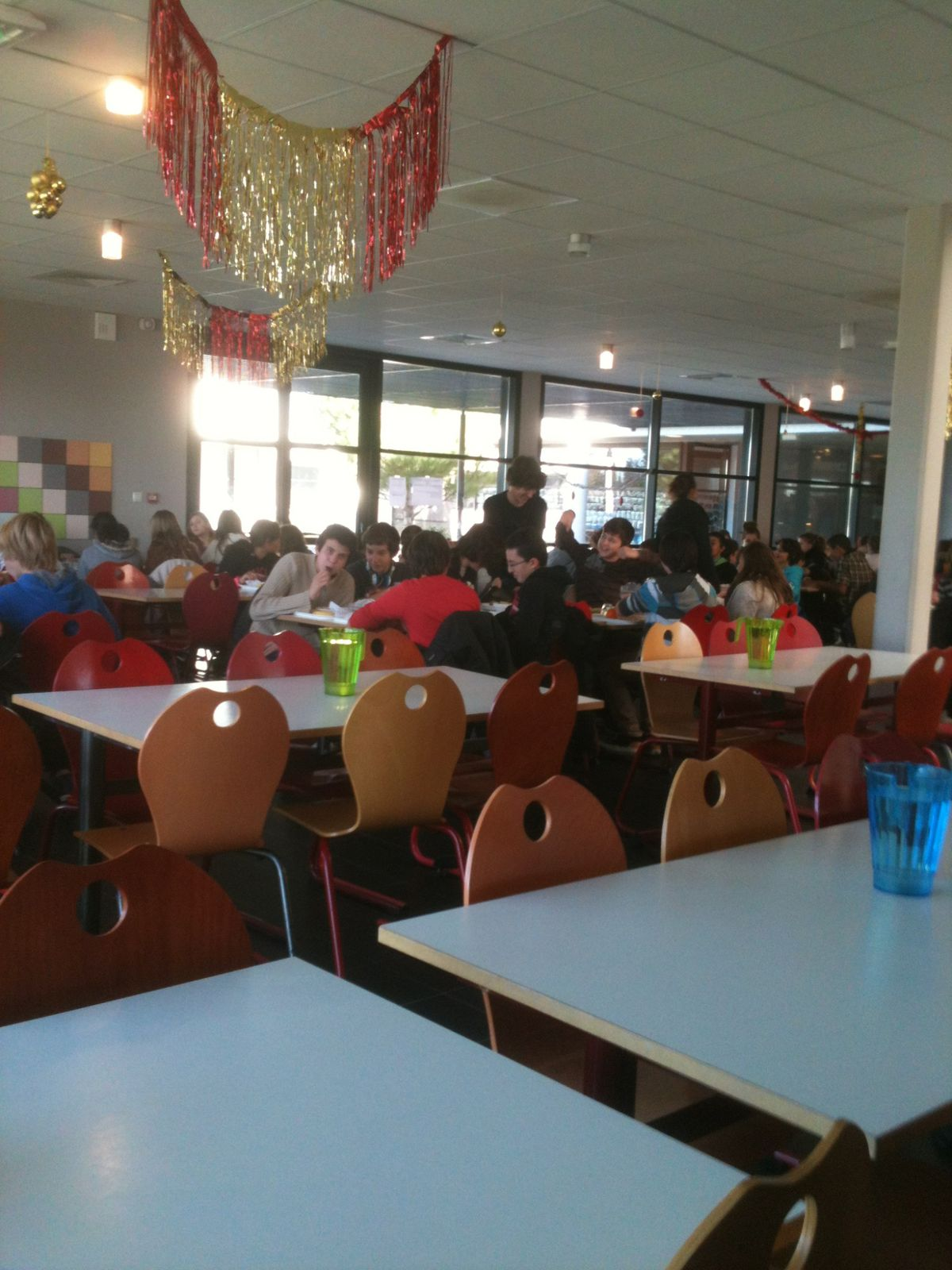 The dining hall where we eat lunch.