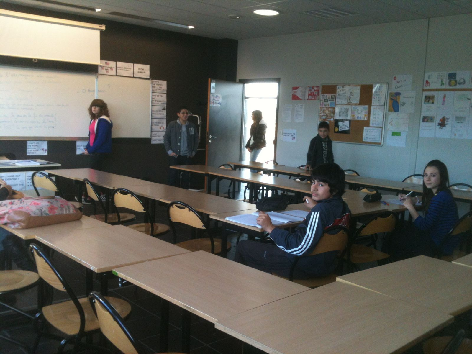 Here are some classrooms like the English classroom.