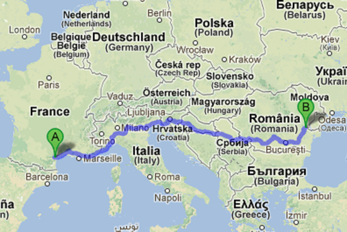 Google Maps - How far do we live from our penpals in Galați, Romania ...