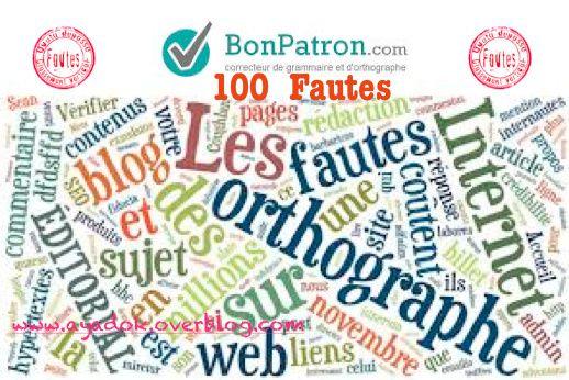 100 Fautes est un correcteur de grammaire qui trouve des fautes d' orthographe et de grammaire en français.