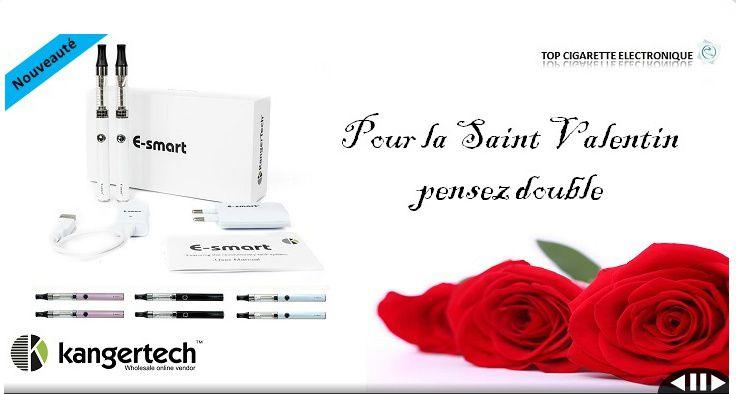 Pour la Saint Valentin Top Cigarette Electronique t'offre une réduction pour l'achat d'une cigarette électronique avec le code AyaDoK