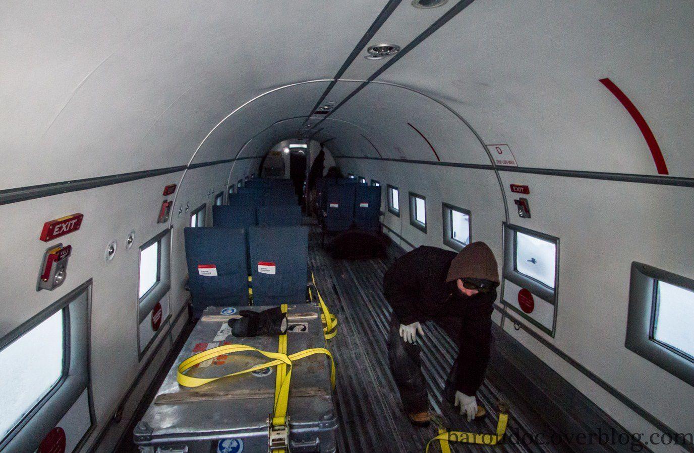 L'intérieur d'un Bassler n'est pas aussi spacieux que celui d'un A380.
