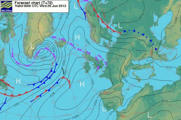Un anticyclone collant ! La montée se fera au prés et dans le petit temps. Le retour sera plus rapide.