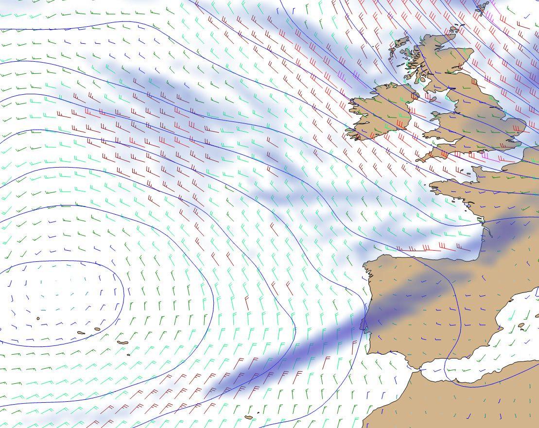 A partir de mardi, l'anticyclone nous protége bien et on peut esperer du portant sur cette premiere étape !