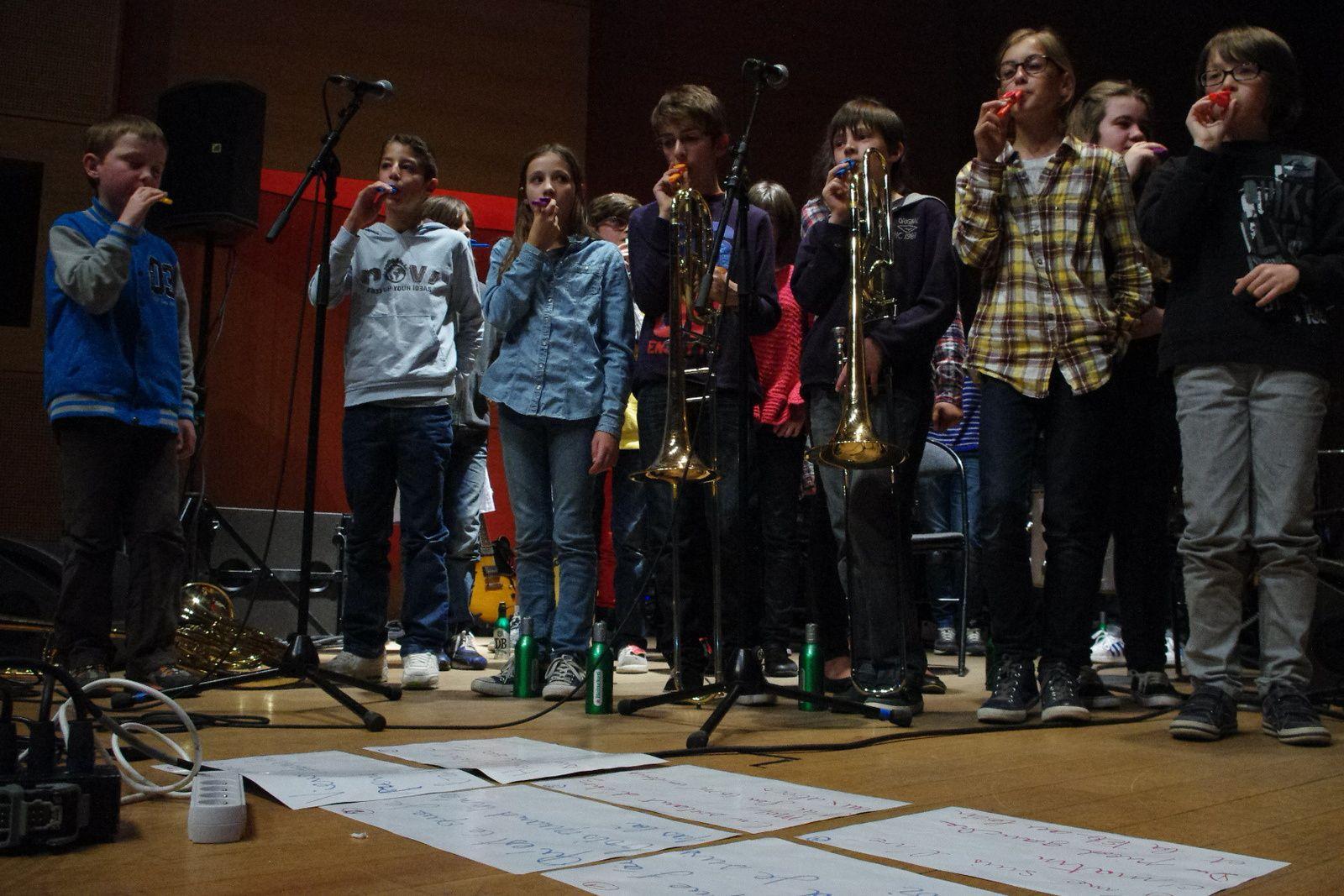 Les Harpsliders et leurs élèves de blues - 11 avril 2014 - Conservatoire de Tourcoing (59)
