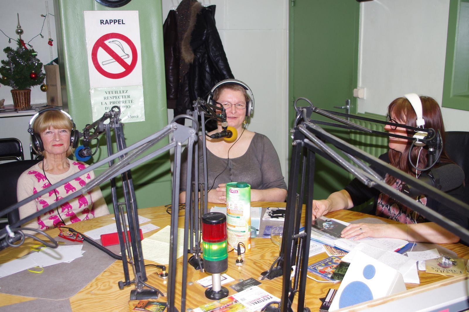 Claudine, Marie Pierre et Marie en studio à RQC