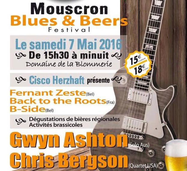 Playlist & podcast Tellin'You –  21 avril 2016 – Invités Cisco Herzhaft et Ray pour le Blues & Beers festival - www.rqc.be