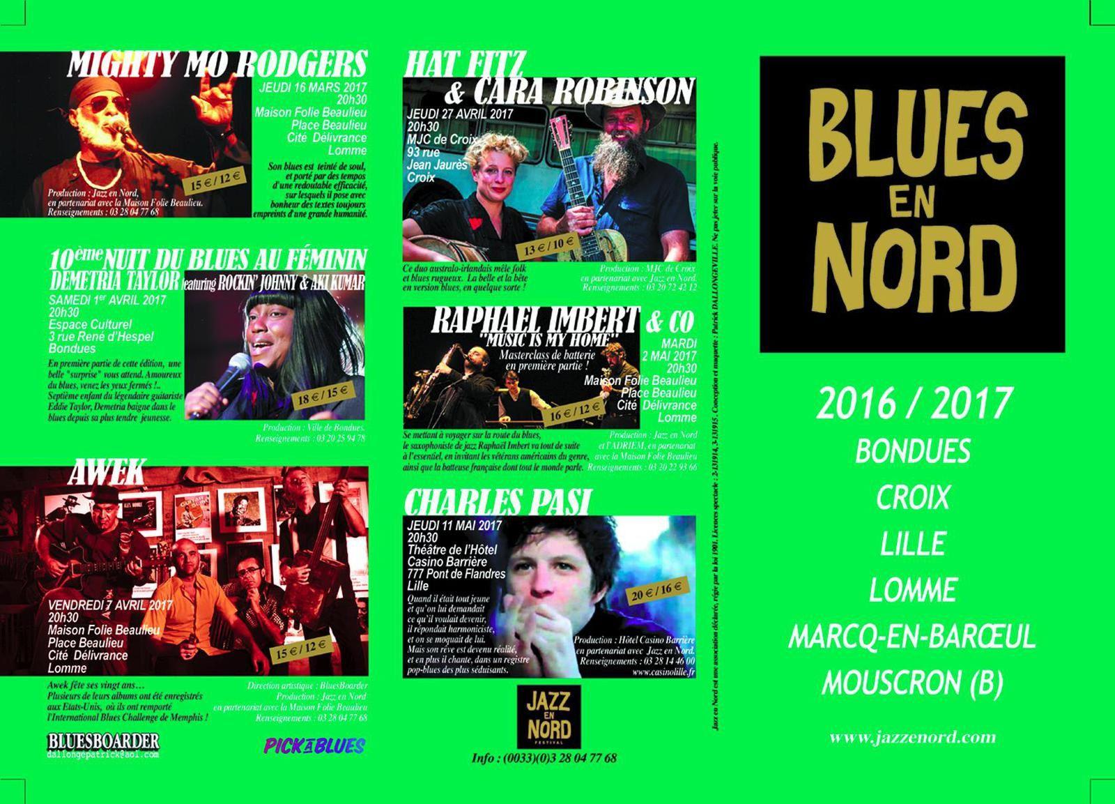 Playlist & podcast Tellin'You – 22 septembre 2016 – invité Patrick Dallongeville – Blues en Nord - www.rqc.be