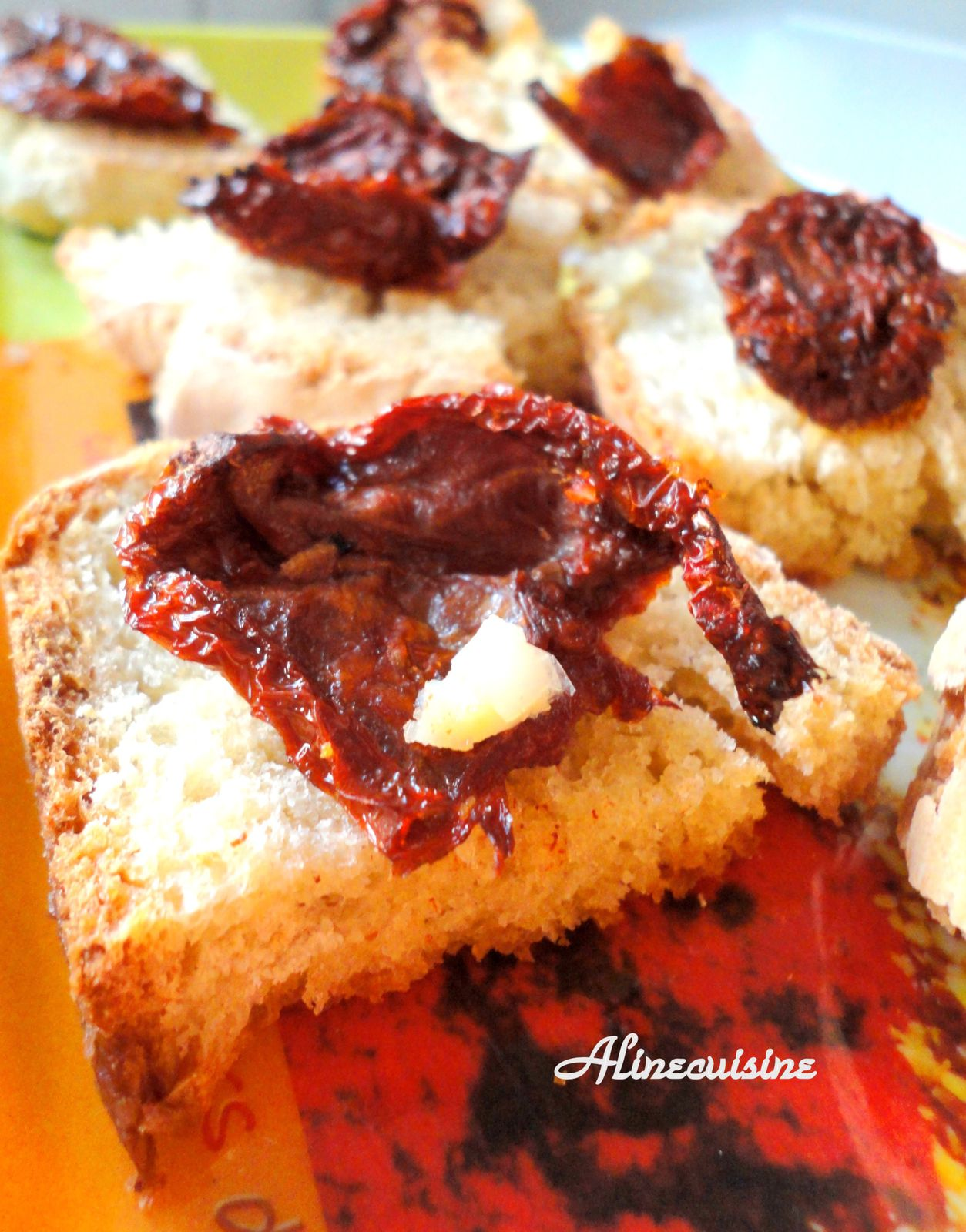 Bruschettas à la tomate séchée