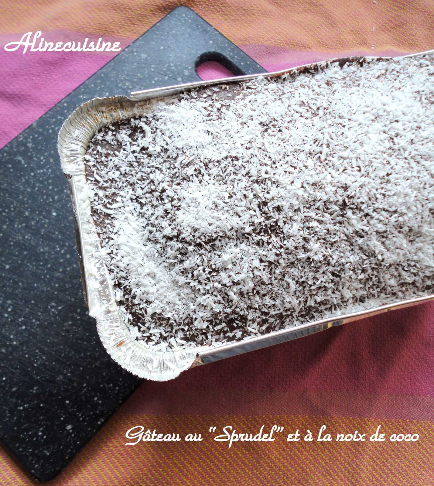 Gateau chocolat noix de coco tupperware