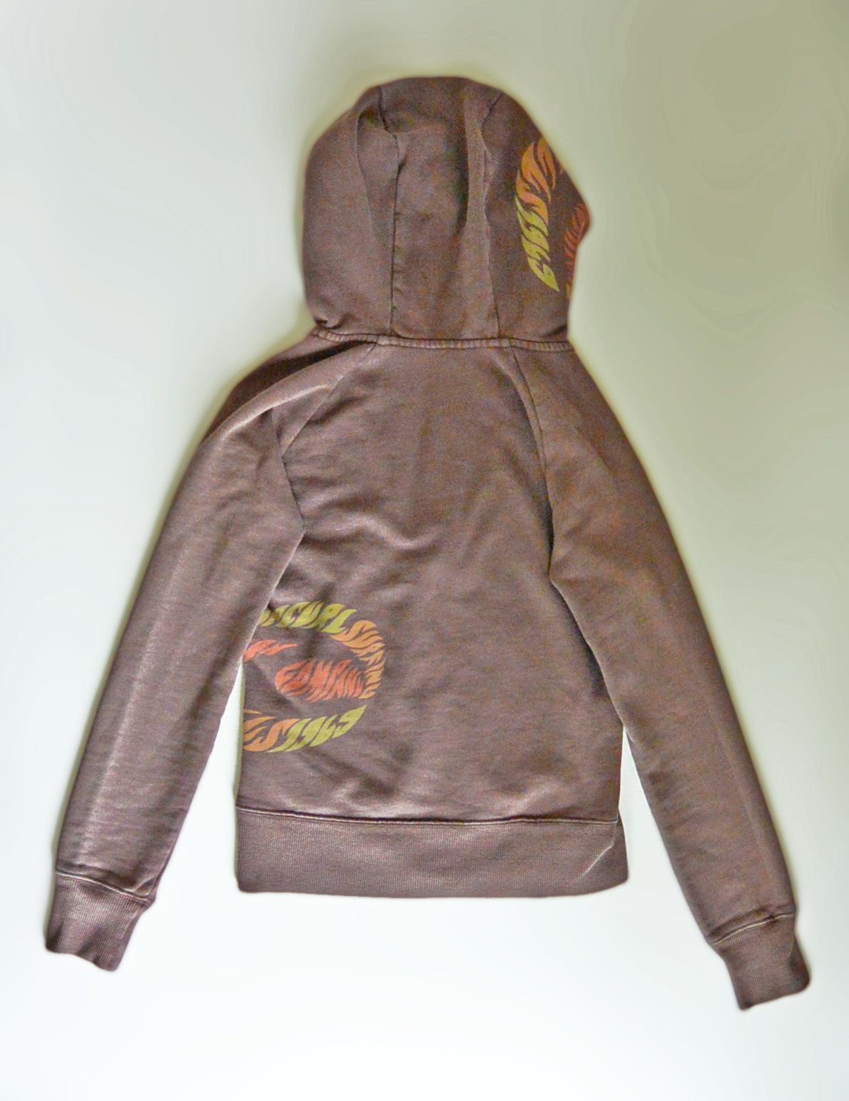 Sweat zippé Rip Curl© surfing company, marron T.XS