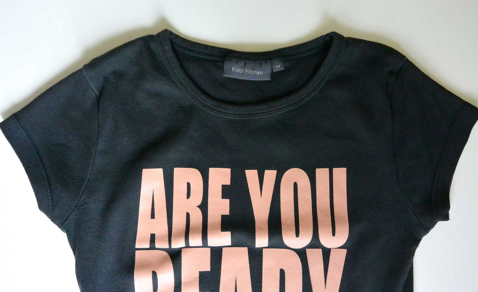 Tee shirt noir &quot&#x3B;Are you ready to move&quot&#x3B; Kiabi© T.M