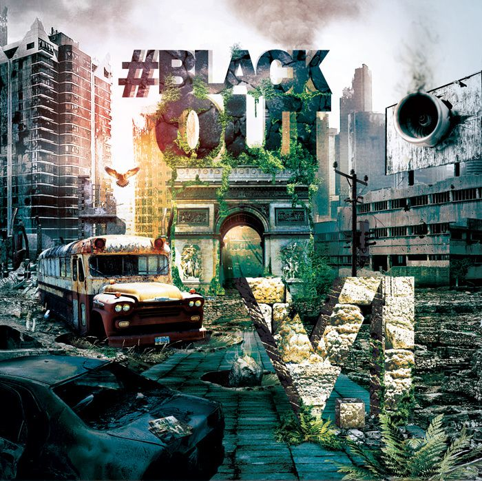 "Pochette de son nouvel album ""#Blackout""."
