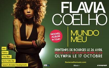 """Flavia Coehlo. Nouvel album """"Mundo Meu"""" sortie le 3 juin chez Discograph."""