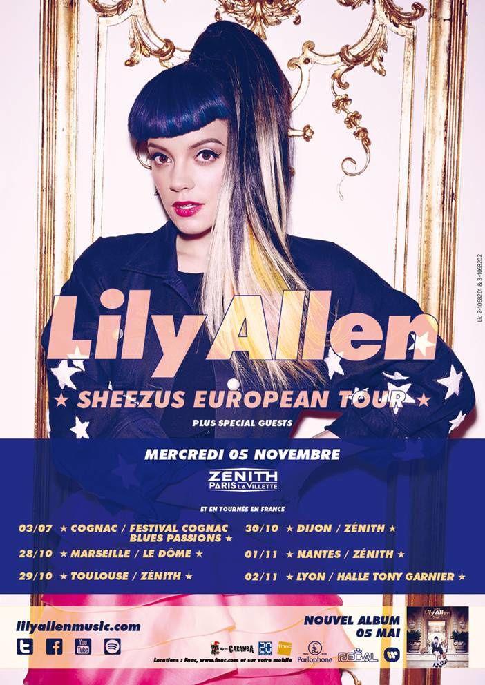 Lily Allen. Sheezus European Tour.