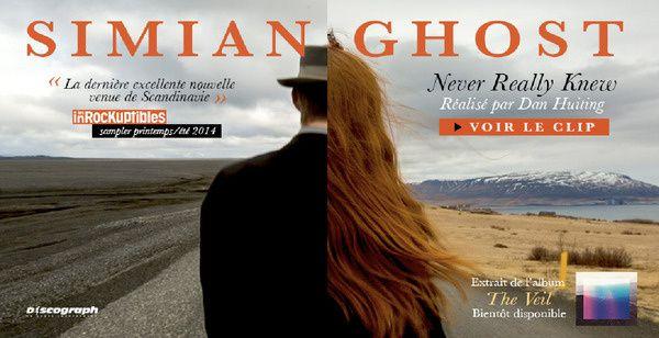 """Simian Ghost. Nouvel album """"The Veil"""". Sortie le 09/09/2014 chez Discograph."""