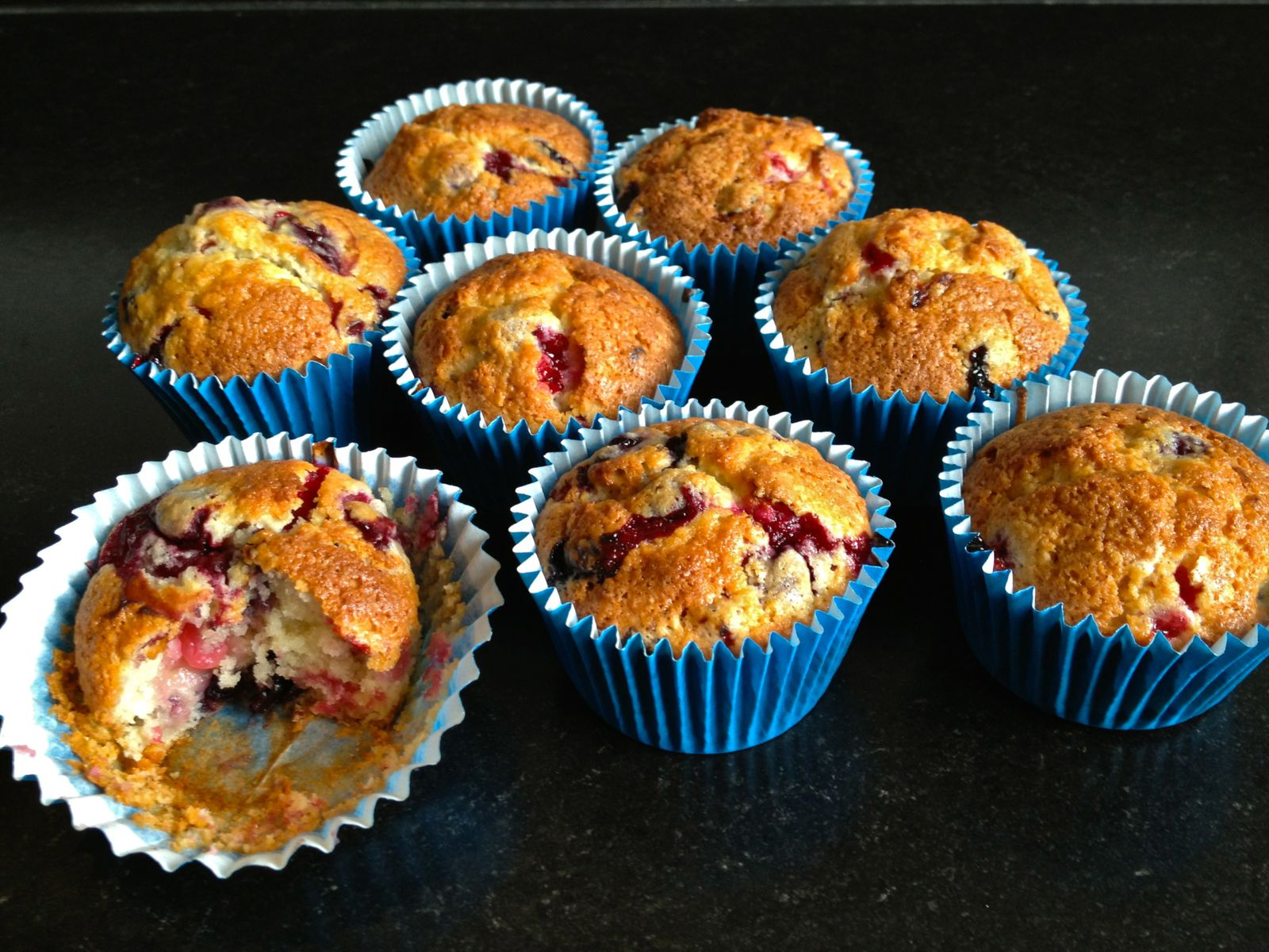 Muffins ax fruits rouges