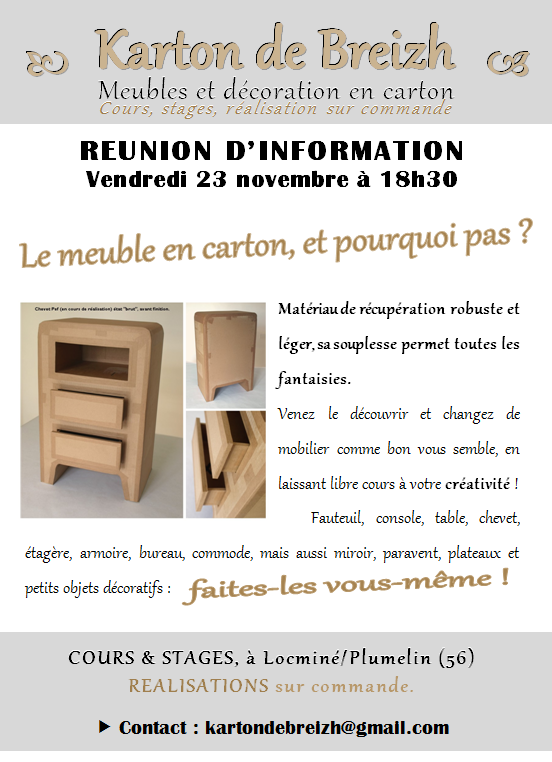 meuble en carton toc ou tic karton de breizh. Black Bedroom Furniture Sets. Home Design Ideas
