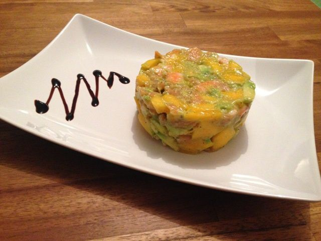 tartare mangue crevettes avocat cooking by cynthia. Black Bedroom Furniture Sets. Home Design Ideas