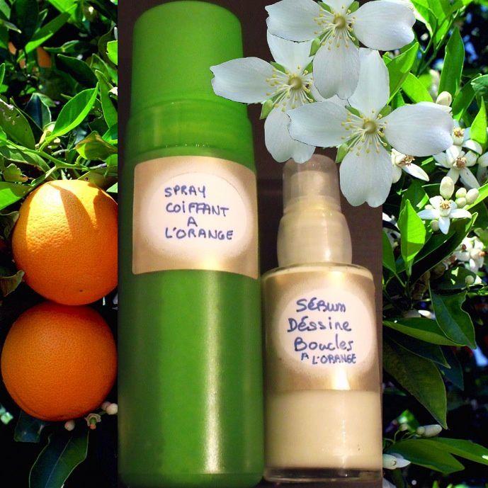 Mon Spray Coiffant Disciplinant &amp&#x3B; mon Sérum Dessine Boucles à l'Orange