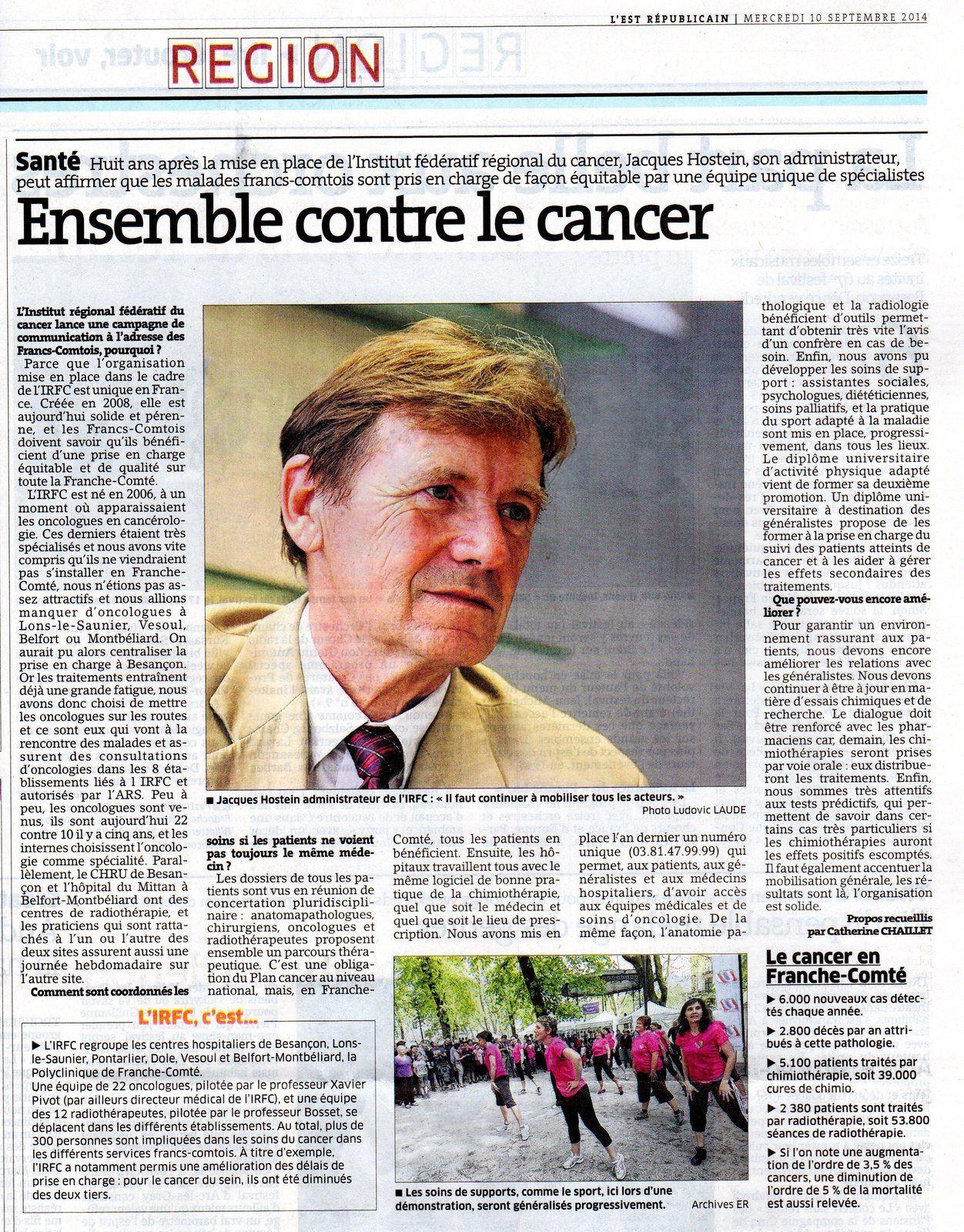 Ensemble contre le cancer en Franche Comté