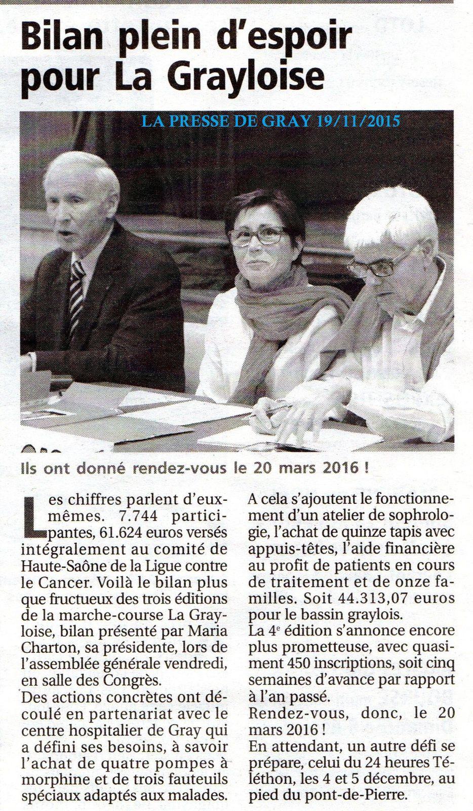 AG 2015  dans LA PRESSE DE GRAY