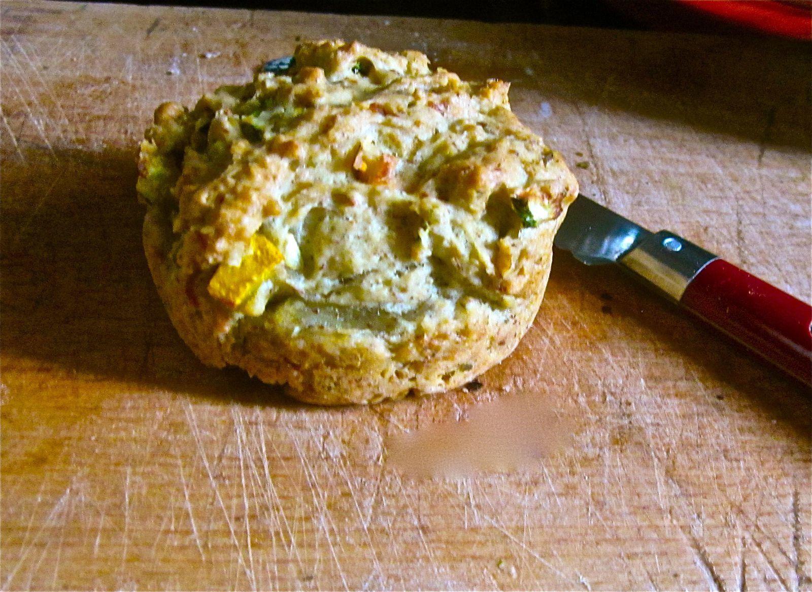Muffin salé quasi végan