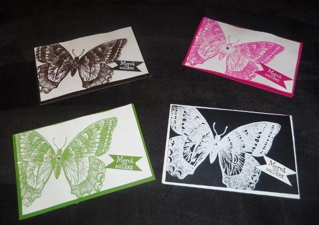 """tampon de fond """"swallowtail""""  ( réf 129216, 17.95€), set de tampon """"quelques lignes""""( réf 125682, 27.95€)"""