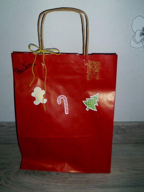 sac décorer de noël