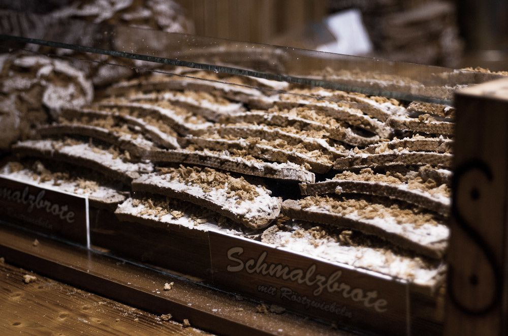 "Schmalzbrot literally means ""bread with lard"". Now, I wouldn't want to try that..."