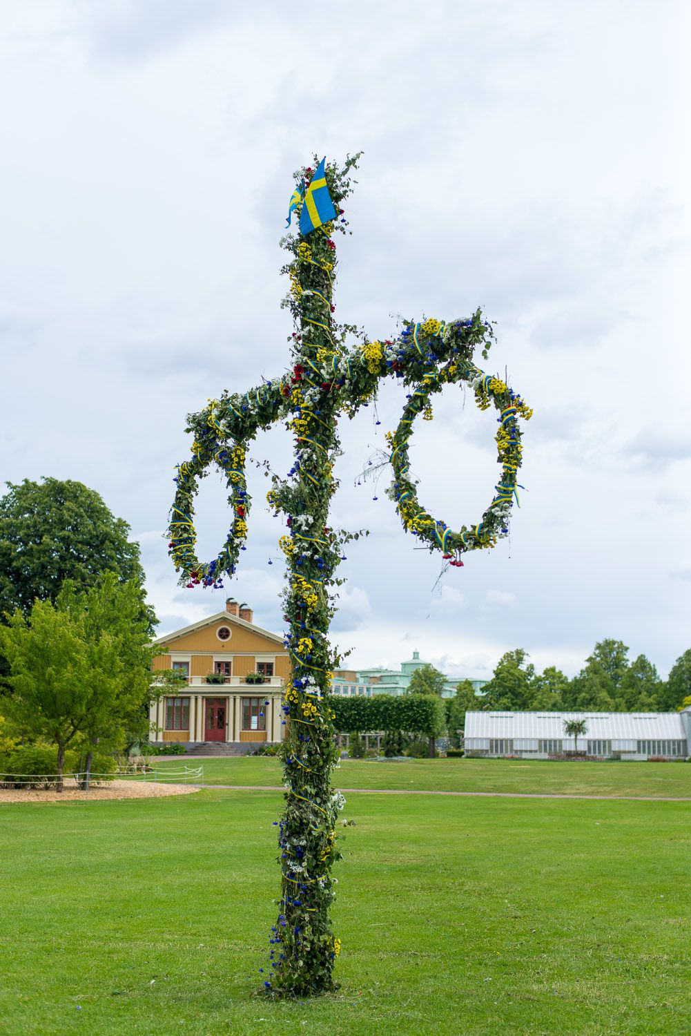 The Midsommar maypole at The Garden Society of Gothenburg, one of the best-preserved 19th century parks in Europe.