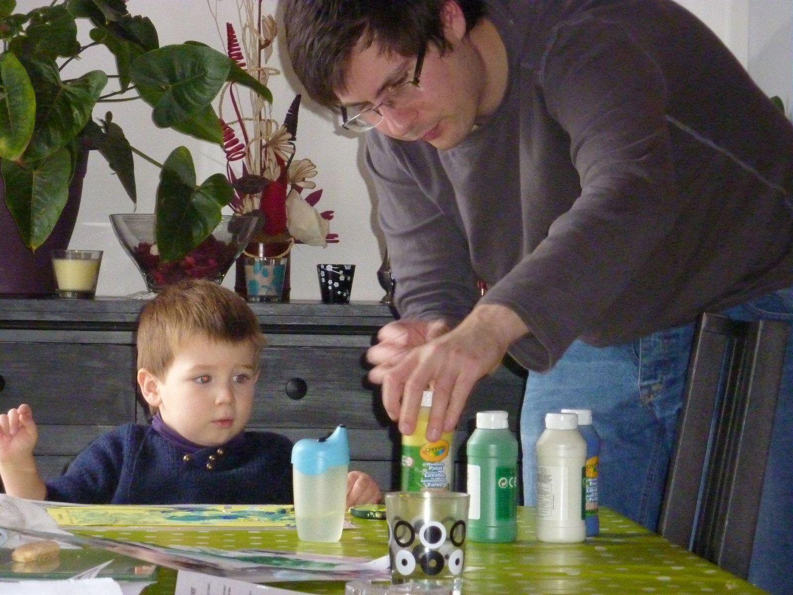 Peinture avec papa