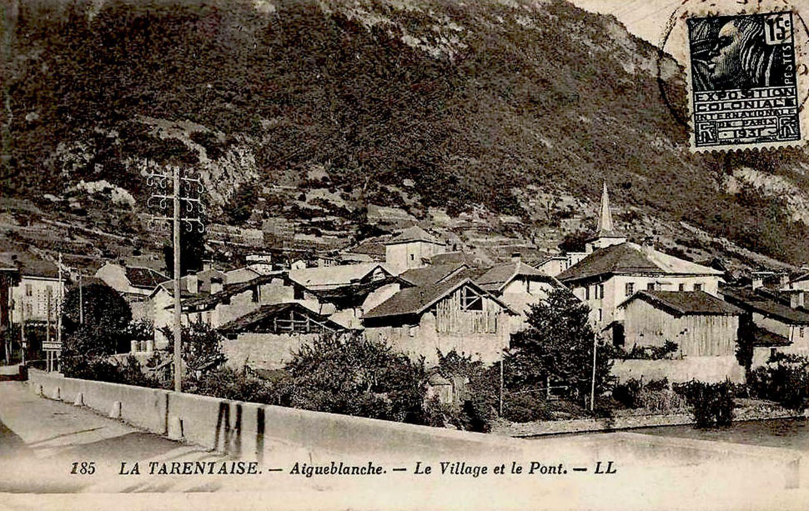 Vue générale d'Aigueblanche