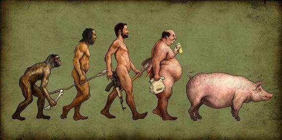 au sujet de l'évolution....