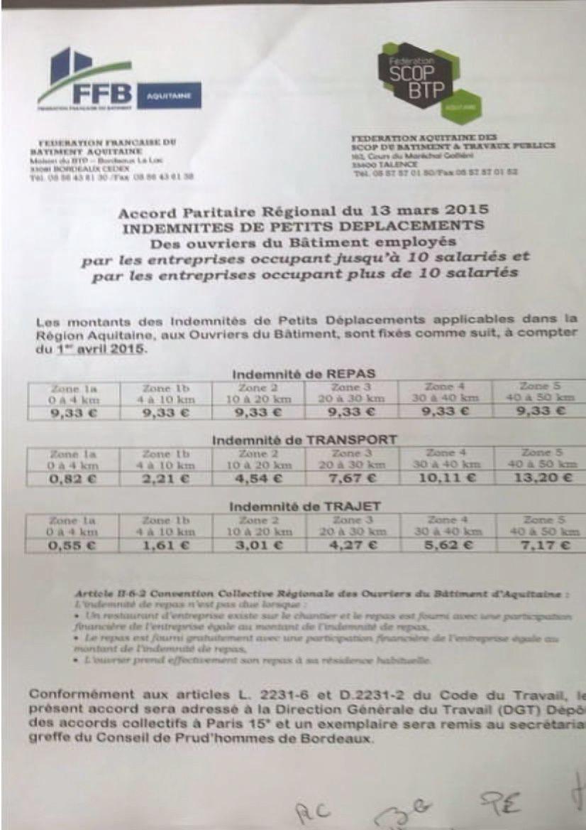 Salaires ouvriers aquitaine cnc b timent cfdt - Grille des salaires du batiment ...