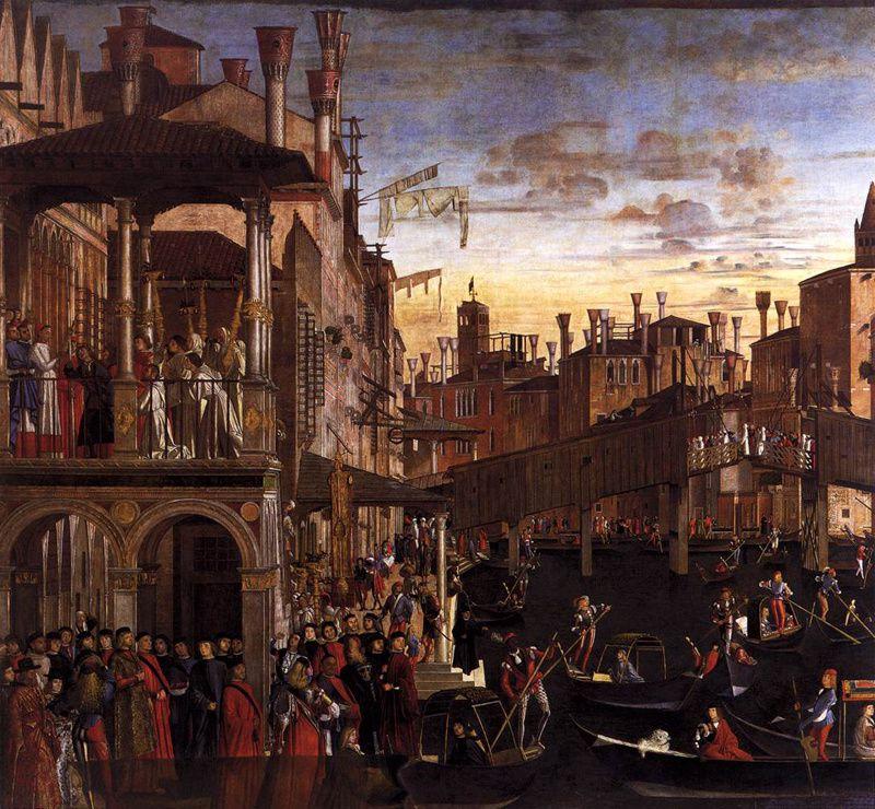 Bellini et Carpaccio, Le Miracle de la relique de Sainte Croix