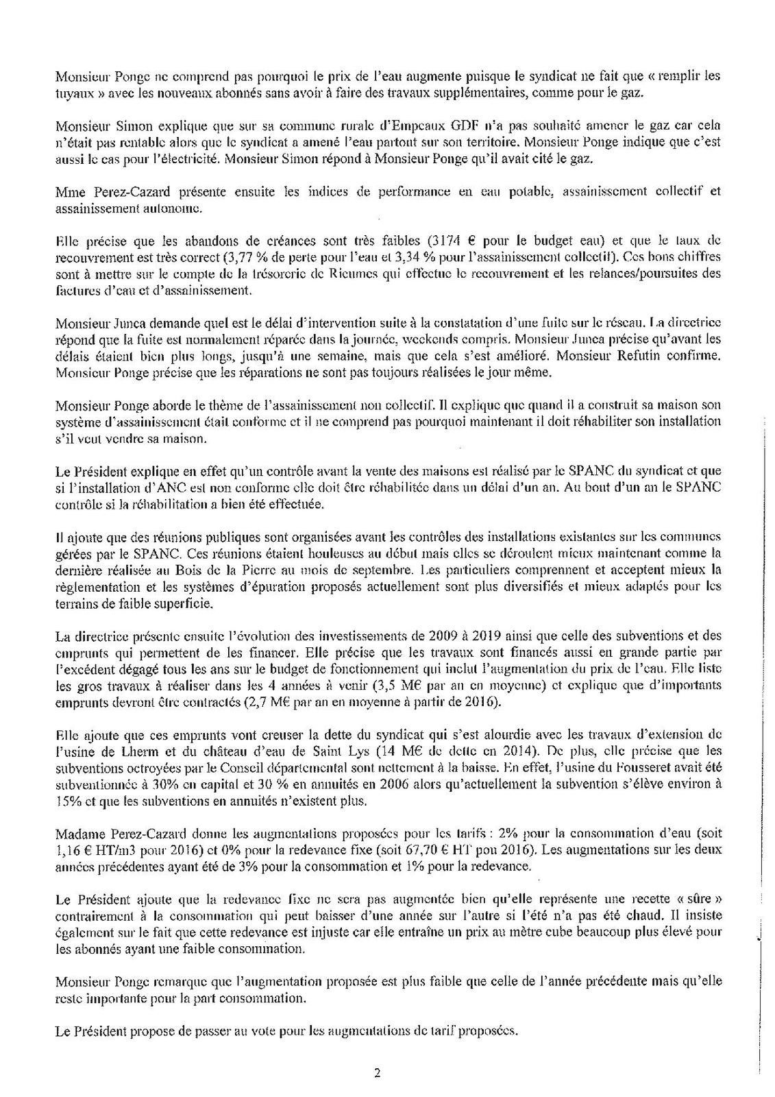 Commission du 19 novembre 2015 au SIECT